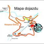 Mapa dojazdu wypożyczalnia Karpacz